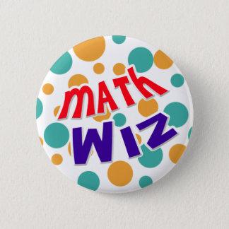 Bóton Redondo 5.08cm Botão de Wiz da matemática
