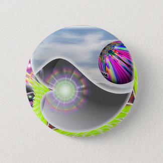 Bóton Redondo 5.08cm Botão de Yin Yang