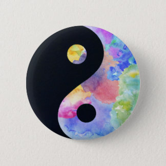 Bóton Redondo 5.08cm Botão de Yin Yang da cor de água