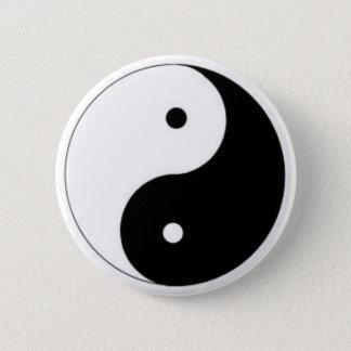 Bóton Redondo 5.08cm Botão de Ying-Yang