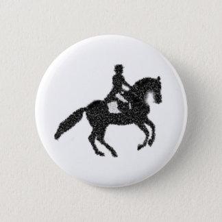 Bóton Redondo 5.08cm Botão do adestramento - cavalo e cavaleiro do