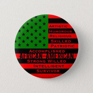 Bóton Redondo 5.08cm Botão do afro-americano