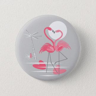 Bóton Redondo 5.08cm Botão do amor do flamingo