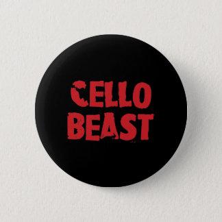 Bóton Redondo 5.08cm Botão do animal do violoncelo