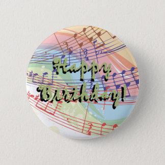 Bóton Redondo 5.08cm Botão do aniversário da música