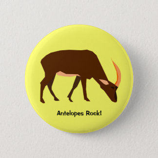 Bóton Redondo 5.08cm Botão do antílope