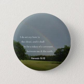 Bóton Redondo 5.08cm Botão do arco-íris do 9:13 da génese