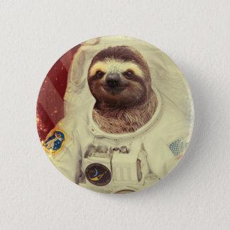 Bóton Redondo 5.08cm Botão do astronauta da preguiça