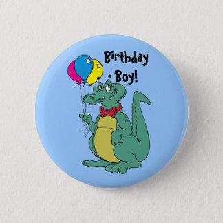 Bóton Redondo 5.08cm Botão do balão do jacaré do feliz aniversario