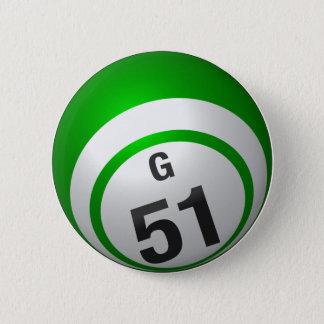 Bóton Redondo 5.08cm Botão do bingo de G 51