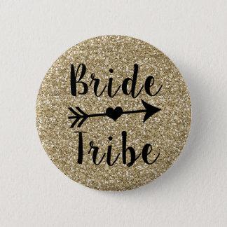Bóton Redondo 5.08cm Botão do brilho do ouro da dama de honra do tribo