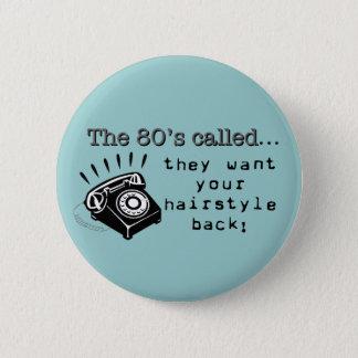 Bóton Redondo 5.08cm botão do cabelo do anos 80
