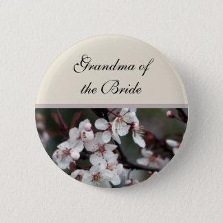 Bóton Redondo 5.08cm botão do casamento da flor da ameixa