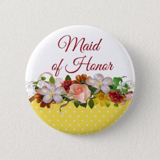 Bóton Redondo 5.08cm Botão do casamento do buquê floral da madrinha de