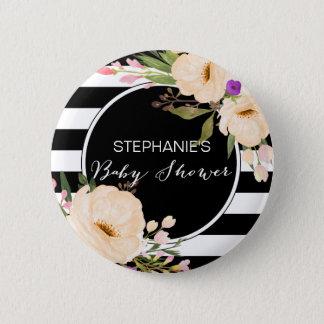 Bóton Redondo 5.08cm Botão do chá de fraldas das flores da anêmona da