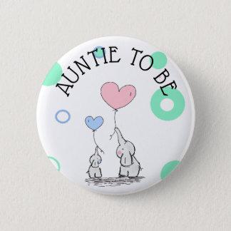 Bóton Redondo 5.08cm Botão do chá de fraldas do Auntie Ser Elefante