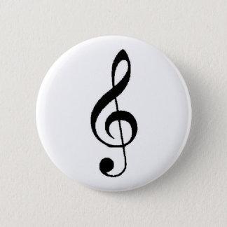 Bóton Redondo 5.08cm Botão do clef de triplo