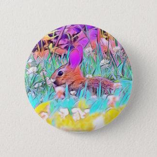 Bóton Redondo 5.08cm Botão do coelhinho da Páscoa