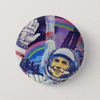 Bóton Redondo 5.08cm Botão do cosmonaute de Yuri Gagarin