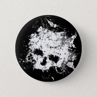 Bóton Redondo 5.08cm Botão do crânio de Splat