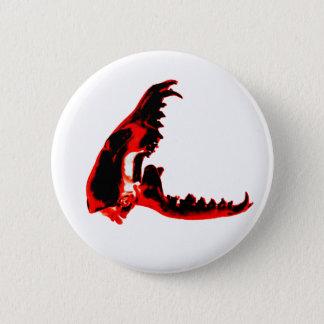 Bóton Redondo 5.08cm botão do crânio do cão