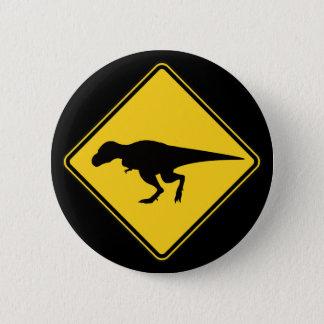 Bóton Redondo 5.08cm Botão do cruzamento de T-Rex