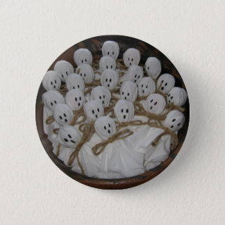 Bóton Redondo 5.08cm Botão do Dia das Bruxas dos fantasmas do pirulito