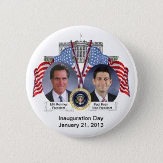 Bóton Redondo 5.08cm Botão do dia de inauguração de Mitt Romney Paul