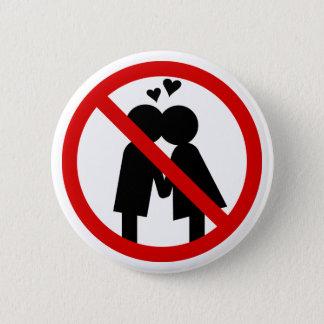 Bóton Redondo 5.08cm Botão do dia de nenhuns Anti-Namorados dos beijos