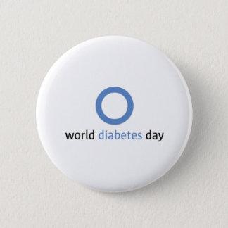Bóton Redondo 5.08cm Botão do dia do diabetes do mundo