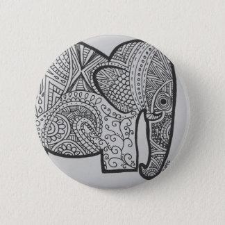 Bóton Redondo 5.08cm Botão do Doodle do elefante