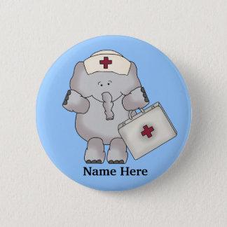 Bóton Redondo 5.08cm Botão do elefante da enfermeira