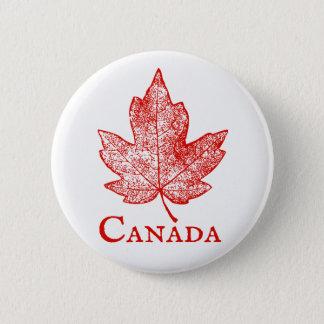 Bóton Redondo 5.08cm Botão do esqueleto da folha de bordo de Canadá do