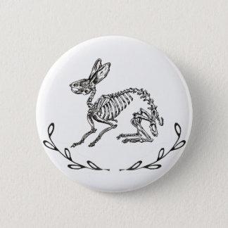 Bóton Redondo 5.08cm Botão do esqueleto do coelho