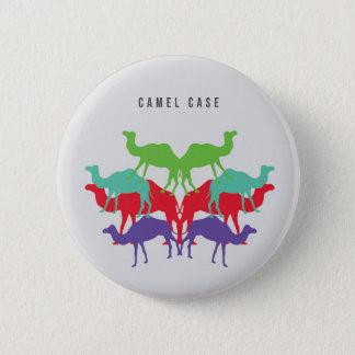 Bóton Redondo 5.08cm Botão do exemplo do camelo