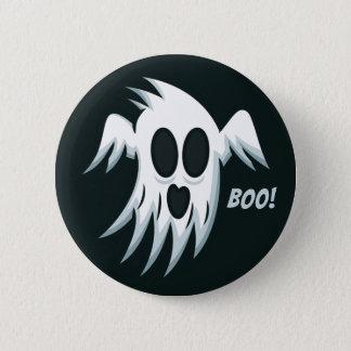 Bóton Redondo 5.08cm Botão do fantasma do Dia das Bruxas