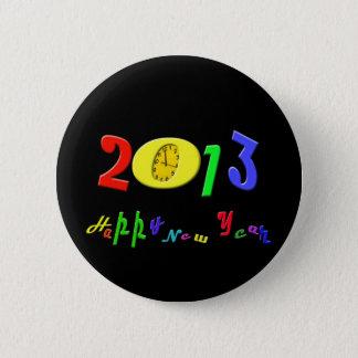 Bóton Redondo 5.08cm Botão do feliz ano novo