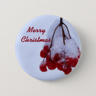 Bóton Redondo 5.08cm Botão do Feliz Natal