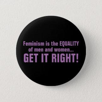 Bóton Redondo 5.08cm Botão do feminismo