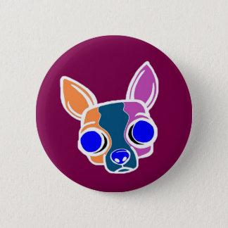 Bóton Redondo 5.08cm Botão do filhote de cachorro da monge de Borgonha