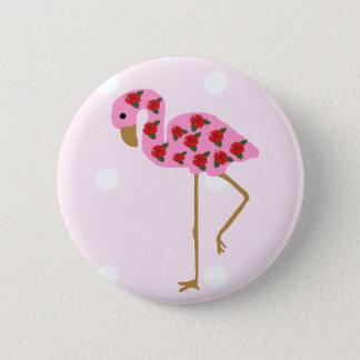 Bóton Redondo 5.08cm Botão do flamingo do hibiscus