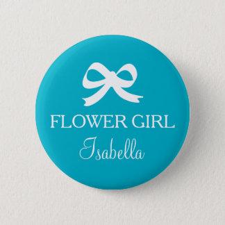 Bóton Redondo 5.08cm Botão do florista do azul de turquesa para wedding