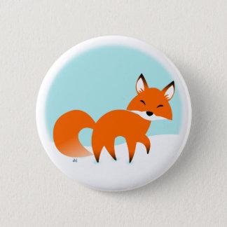 Bóton Redondo 5.08cm Botão do Fox vermelho