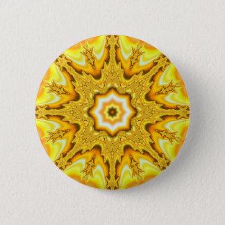 Bóton Redondo 5.08cm Botão do Fractal da estrela do ouro