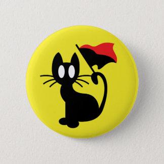 Bóton Redondo 5.08cm Botão do gato da anarquia