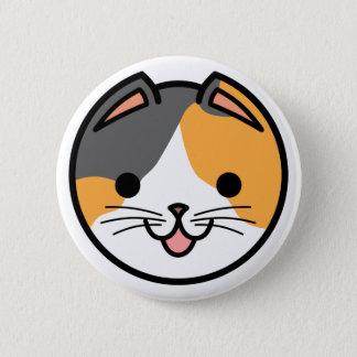 Bóton Redondo 5.08cm Botão do gato de chita