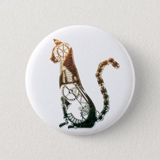 Bóton Redondo 5.08cm Botão do gato de Steampunk
