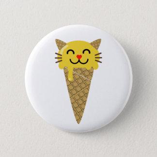 Bóton Redondo 5.08cm Botão do gato do gelado de Emoji