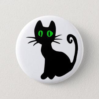 Bóton Redondo 5.08cm Botão do gato preto