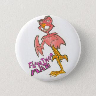 Bóton Redondo 5.08cm Botão do homem do flamingo